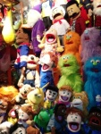 Everybody was taking pictures of these handmade muppets
